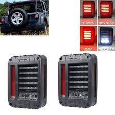 jeep back lights 2pcs jeep jk wrangler 2007 2016 led brake reverse parking backup