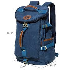 Kaukko bags usa kaukko multipurpose retro canvas backpack