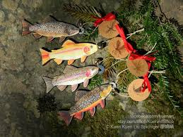 trout and aquatic insects ornaments trout fish