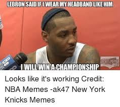 Lebron Headband Meme - lebron said ifi wear my headband like him sports meme i willwina