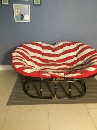 pier 1 double papasan chair love seat furniture in fort