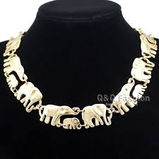 gold statement collar necklace images Gold silver african elephant baby link hindu ganesh chain collar jpg