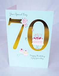 happy 70th birthday card for her womens ladies female poem verse