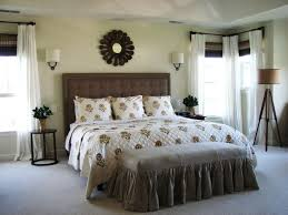 Carpet Vs Wood Floors White Bed Feat Black Tufted Headboard Interesting Black Leather