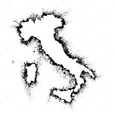 Sicily Italy Map Italy And Sicily Map Vector Format In The Spray Paint Stains