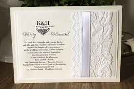 wedding invitations toronto wedding invitation 1107 white gold pearl
