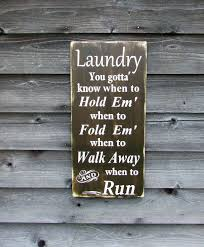 laundry sign hand painted primitive rustic laundry sign funny