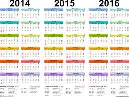 2014 2015 2016 calendar 4 three year printable pdf calendars