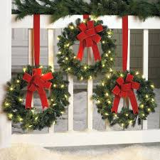 lighted wreaths for outdoors garl lighted outdoor wreaths large