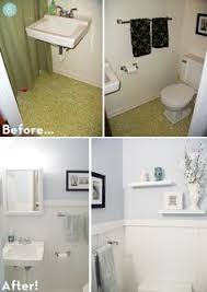 Small Bathroom Updates On A Budget Complete Bathroom Makeover With Peel And Stick Grouted Tiles
