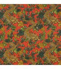 home decor 8 u0027 u0027 x 8 u0027 u0027 fabric swatch ming dragon persimmon joann