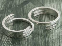 couples jewelry rings images Hand made couple 39 s interlocking rings by third dimension jewellery jpg