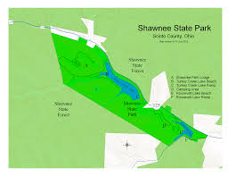 Ohio State County Map by Athens Area Outdoor Recreation Guide Shawnee State Park