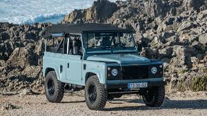 vintage land rover defender this matte blue land rover defender is ridiculously cool airows