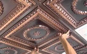 Ceiling Faux Tin Ceiling Tiles Cheap Ceiling Tile Replacement