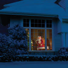 Holiday Light Projector Christmas Lights by Animated Holiday Scene Projector Brings Halloween Christmas To