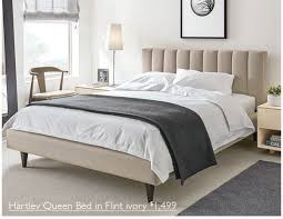 Room And Board Bed Frame Room Board New Upholstered Bed With Distinctive Details Milled