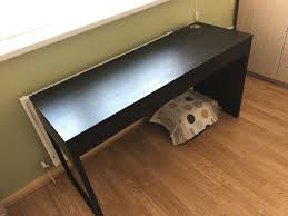dark brown computer desk good quality computer desk dark brown good size like new in