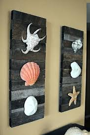 Beach Decorating Ideas Pinterest by Decorations Beach Decor Shells On Driftwood Pinterest Coastal