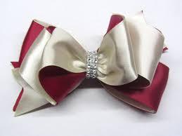 big ribbon for hair clip burgundy bow on clip burgundy satin