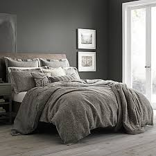 wamsutta vintage paisley linen duvet cover in grey bed bath