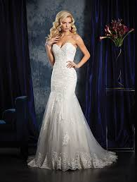 wedding dress angelo alfred angelo style 985 mermaid lace wedding dress with