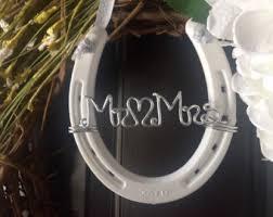 personalized horseshoe set groom horseshoe set wedding chair signs couples gift