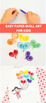 easy paper quill art for kids heart balloons cute first paper