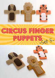 circus puppets finger circus puppets set 5 on the cutting floor printable pdf