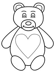 bears with hearts coloring pages gianfreda net