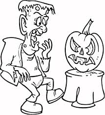 frankenstein scared pumpkin coloring download u0026 print