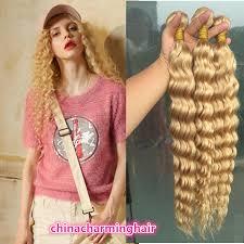 Remy Hair Extensions Cheap by Cheap Platinum Blonde Brazilian Hair 3 Bundles Blonde Deep Wave