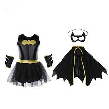 batman girls clothing sets halloween costume for kids clothes