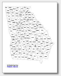 county map ga printable maps state outline county cities