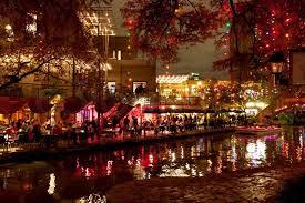 Christmas Lights Texas Christmas Lights At Riverwalk In San Antonio Texas Usa Stock