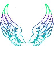 purple guardian angel wings clip art at clker com vector clip