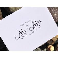 custom wedding thank you cards thank you from the new mr mrs