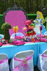 Alice In Wonderland Baby Shower Decorations - alice in wonderland table setting alice in wonderland