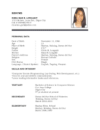 sample format of a resume resume for your job application