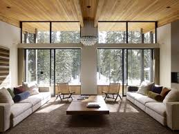 interior asian style living room interior design with wooden