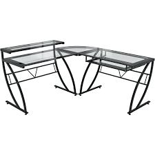 Z Line Designs Computer Desk Desk Z Line Designs Matrix L Shaped Computer Desk Glass Top