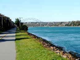 visiting the free cape cod canal bike trail in november the