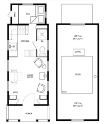 floor tumbleweed tiny house plans cottage style plan beds baths sq