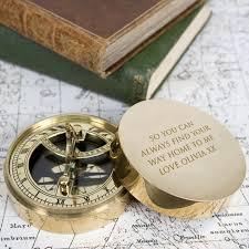 pocket sundial compass brass tr prints tr prints gifts