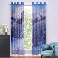 rideau de fenetre de chambre 2 pièces lot 3d voile rideaux plage imprimé rideau pour chambre et