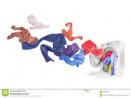 Colored Washing Machines Colored Laundry Flying From Washing Machine Stock Image Image