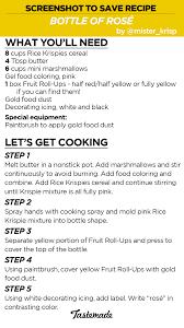 rice krispies bottle of rosé recipe tastemade