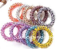 ponytail holder bracelet 10pcs lot multicolor elastic telephone wire hair band leopard