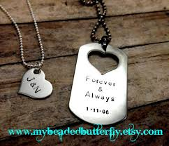 personalized dog tag necklace handsted necklace personalized necklace dog tag