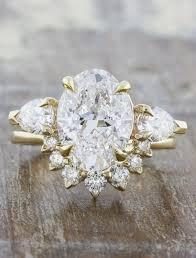 metal stone rings images Permelia oval diamond three stone engagement ring ken dana design jpg